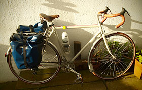 Custom Touring Bicycle, finished and about to set off on it's first tour