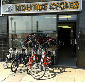 High Tide Cycles Shop Front